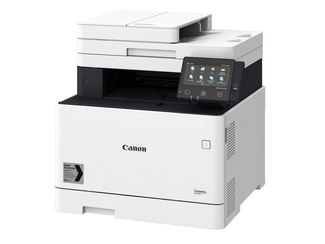 Canon i-SENSYS MF744Cdw printer available ot lease or purchase.
