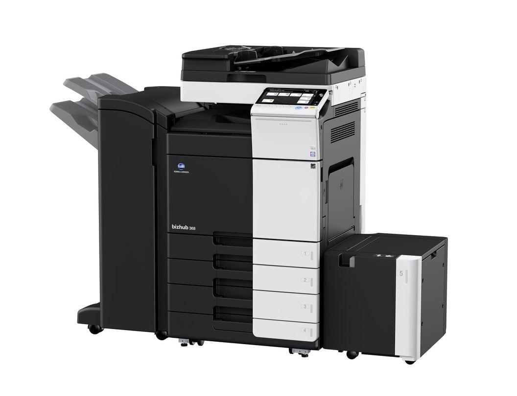 Konica Minolta Bizhub 368 printer available ot lease or purchase.