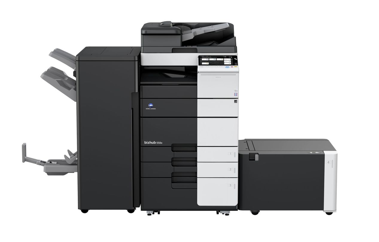 Konica Minolta Bizhub 558e printer available ot lease or purchase.