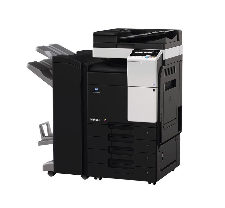 Konica Minolta Bizhub C227 printer available ot lease or purchase.