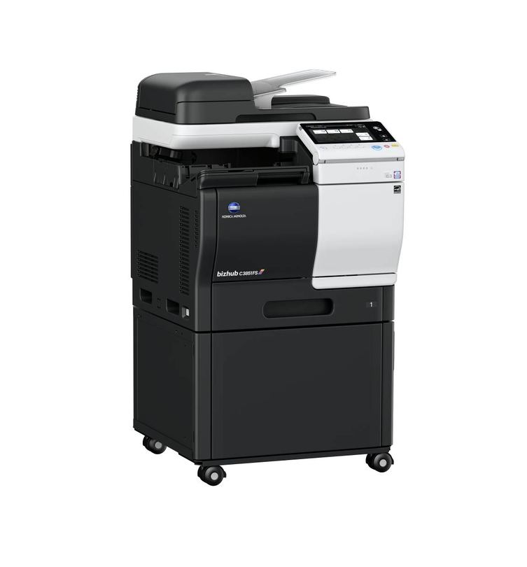 Konica Minolta Bizhub C3851FS printer available ot lease or purchase.
