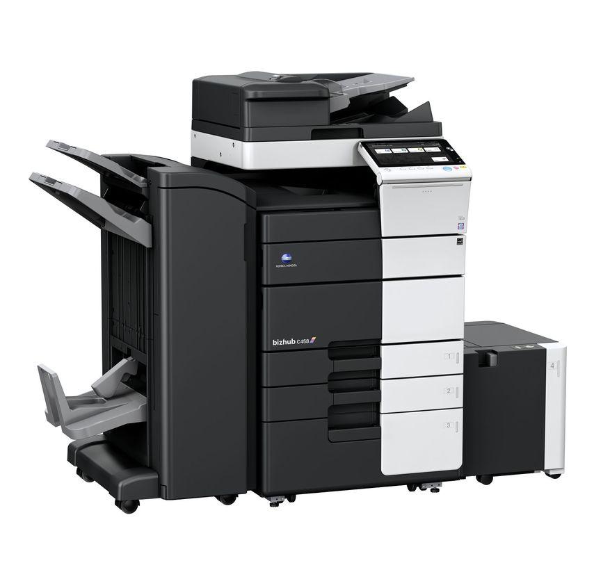 Konica Minolta Bizhub C458 printer available ot lease or purchase.