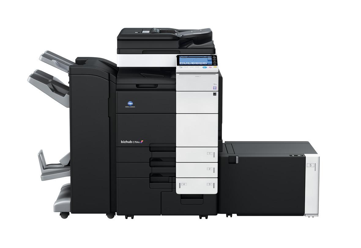 Konica Minolta Bizhub C754e printer available ot lease or purchase.
