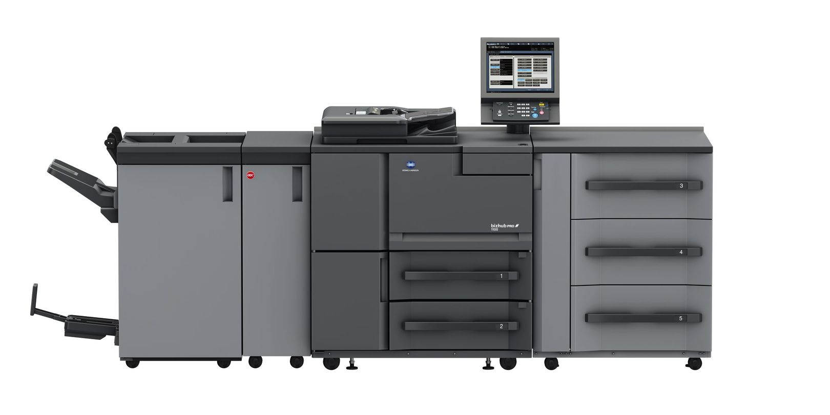 Konica Minolta Bizhub Pro 1100 printer available ot lease or purchase.