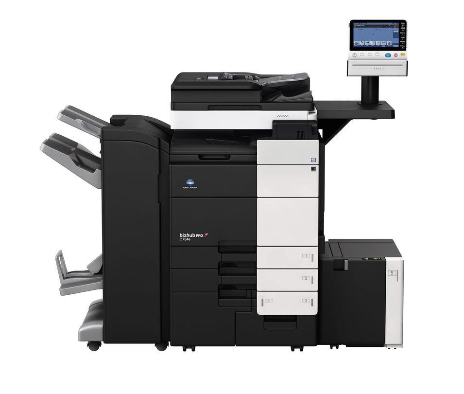 Konica Minolta Bizhub Pro C754e printer available ot lease or purchase.