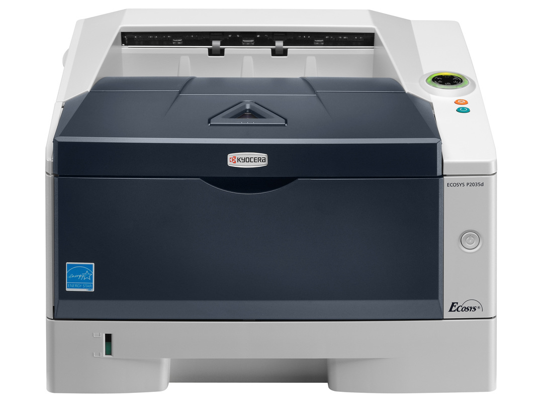 Kyocera ECOSYS P2035d printer available ot lease or purchase.